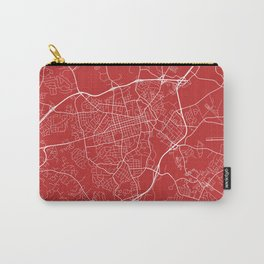 Athens Map, USA - Red Carry-All Pouch