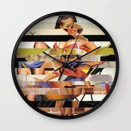 Glitch Pin-Up Redux: Gwen Wall Clock