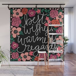 Best Wishes, Warmest Regards Wall Mural