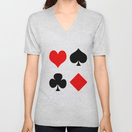 poker card figures Unisex V-Neck