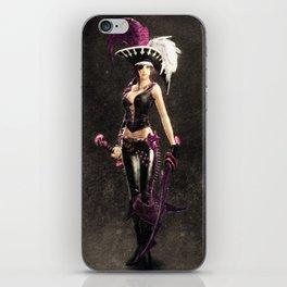 Pirate girl iPhone Skin