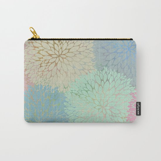 Abstract Floral Petals Carry-All Pouch