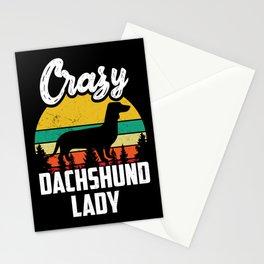 Dog Lover Dachshund Crazy Dachshund Lady Stationery Cards