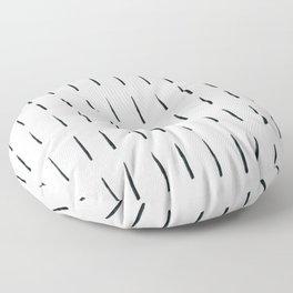 MOD_ShortDashesLight_Charcoal Floor Pillow