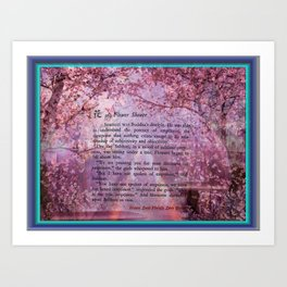 The Zen Flower Shower Art Print