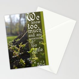 Convinced of Too Little Stationery Cards
