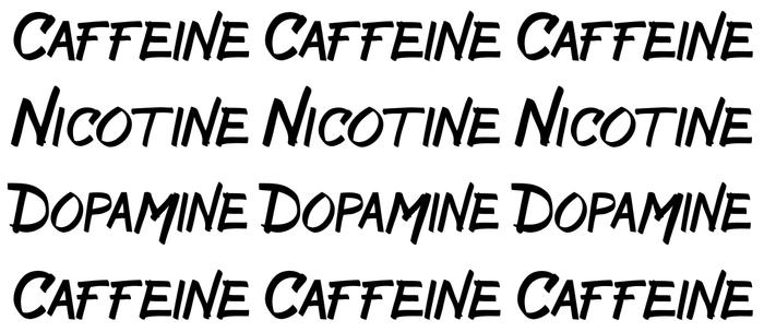 CAFFEINE NICOTINE DOPAMINE Coffee Mug