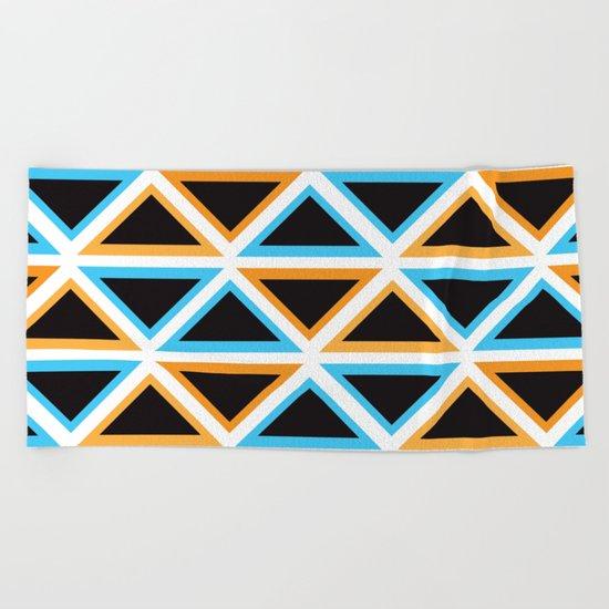Colorful Triangle (Ranging Tribuj) Beach Towel