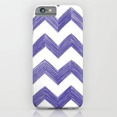 Classic Chevrons in Blue-Purple iPhone 6s Slim Case