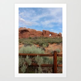 Vertical Out West Scene Art Print