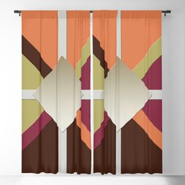 Colors Triangles Blackout Curtain