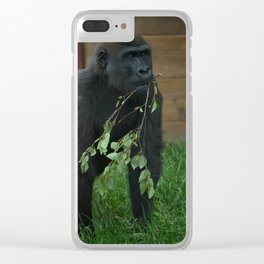 Lope The Gorilla Clear iPhone Case
