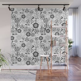 Supernatural Symbols Wall Mural