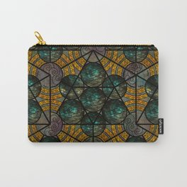 Platonic Solid Icosahedron - Aqua Carry-All Pouch