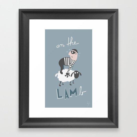 on the LAMb Framed Art Print