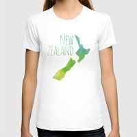 new zealand T-shirts featuring New Zealand by Stephanie Wittenburg