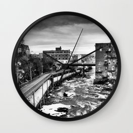 Hydroelectric dam Wall Clock