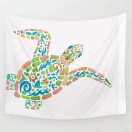 Surf Turtle Wall Tapestry