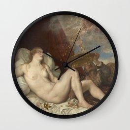 Titian - Danae Wall Clock