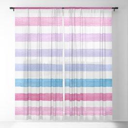 Watercolor Sheer Curtain