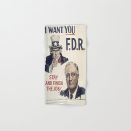 Vintage poster - I Want You FDR Hand & Bath Towel