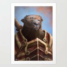 Bear Warrior Art Print