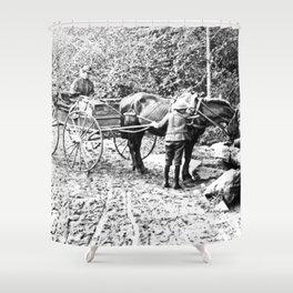 Vintage Adirondacks: The Roadside Watering Trough Shower Curtain