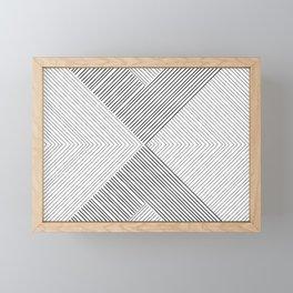 Stripe Geometric Arrow Framed Mini Art Print