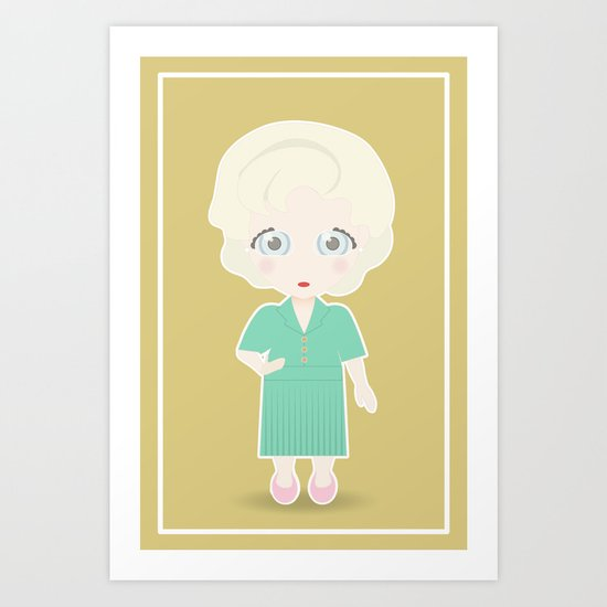 Girls in their Golden Years - Rose Art Print