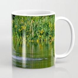 Swan streching on the water Coffee Mug