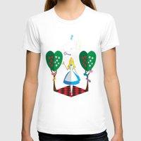 alice in wonderland T-shirts featuring Wonderland by AmadeuxArt