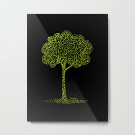 Nature Tree Drawing Metal Print