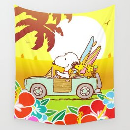 Snoopy Sunrise Wall Tapestry