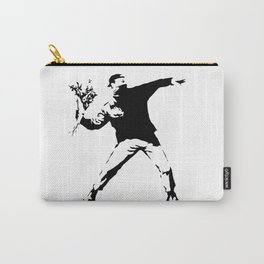 Rage, Flower Thrower - Banksy Carry-All Pouch