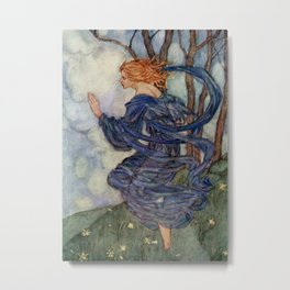 """""""The Wind"""" Fairy Art by Florence Harrison Metal Print"""