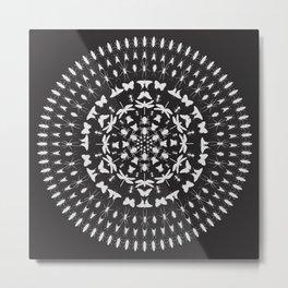Insect Mandala Metal Print