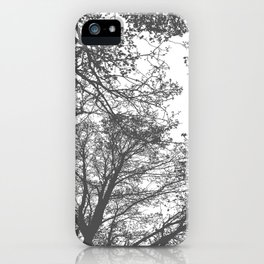 Grey Trees Abstract iPhone Case