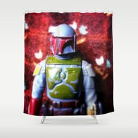 boba fett Shower Curtains featuring Boba Fett by mchlsrr