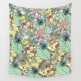 Nature Bloom Pattern Wall Tapestry