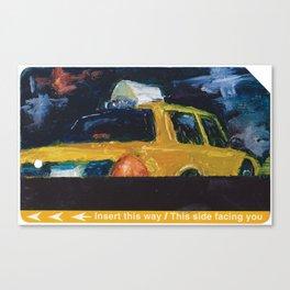 Subway Card NYC Taxi Painting Canvas Print