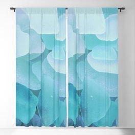 Sea Glass Ocean Blue Blackout Curtain