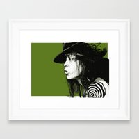 erykah badu Framed Art Prints featuring Erykah Badu by ChrisGreavesCreative