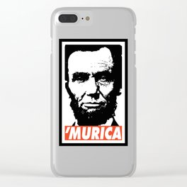 Abraham Lincoln Murica Clear iPhone Case