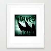 wolves Framed Art Prints featuring WolveS by shannon's art space