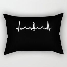 Funny Bball Basketball | Heartbeat Gift Rectangular Pillow