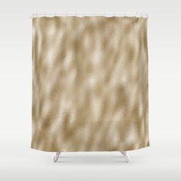 Mottled Champagne Sand Foil Shower Curtain