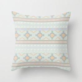 Desert Stripes No. 3 in Sage Bush Green Throw Pillow