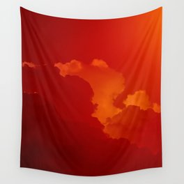 orange's clouds Wall Tapestry