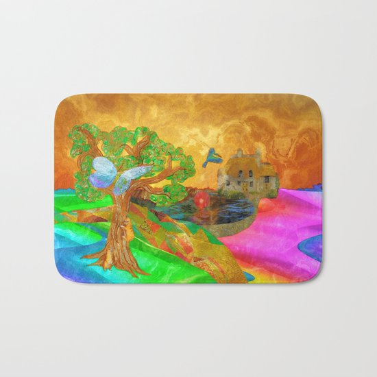 Let color bring you smiles as you walk lifes many miles Bath Mat