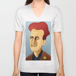 George Orwell, big brother is still watching you Unisex V-Neck